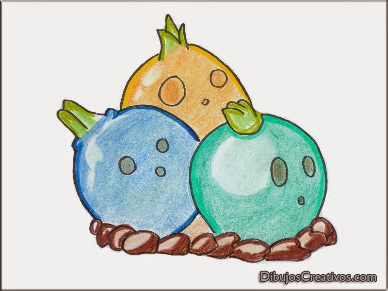 dibujos para colorear BULBO DE BOLERA PLANTAS VS ZOMBIES 2