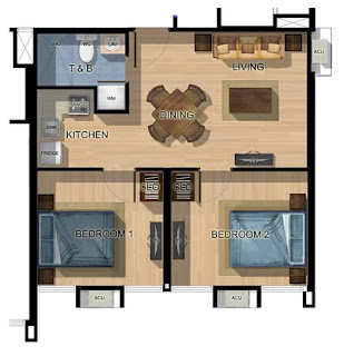 Studio A Katipunan Two Bedroom Unit Plan