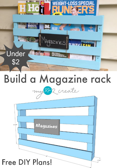 Free Plans for How to build a Magazine rack, I need several of these!!