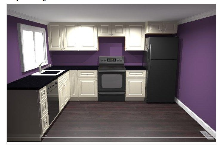 Giy goth it yourself kitchen renovation part 2 let the for Black and purple kitchen ideas