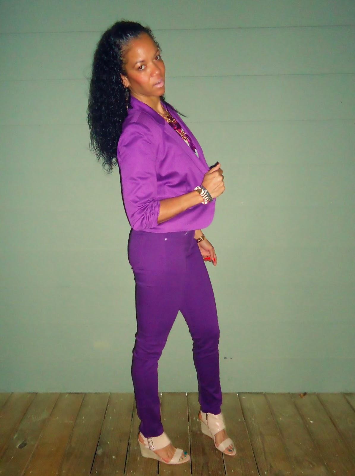 Purple Pants; Purple jacket