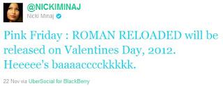 Nicki Minaj anúncia data de lançamento e nome do novo álbum Pink Friday: ROMAN RELOADED