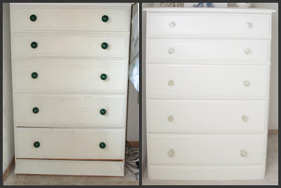 Thrifted furniture transformation before and after