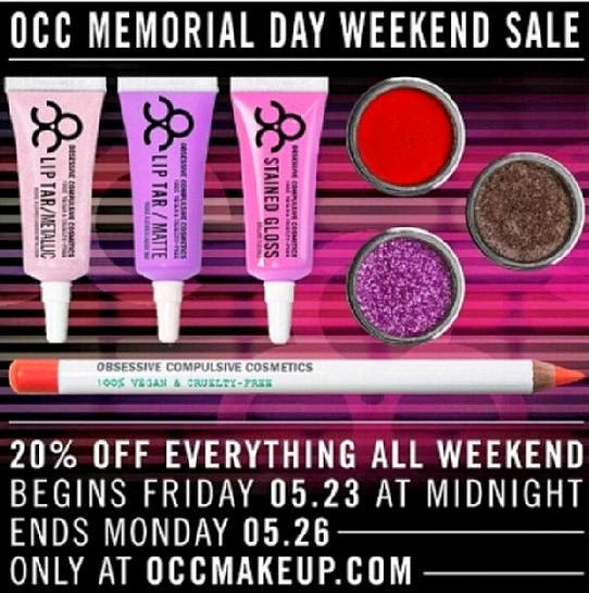 20% OCC Memorial Day Sale, May 2014