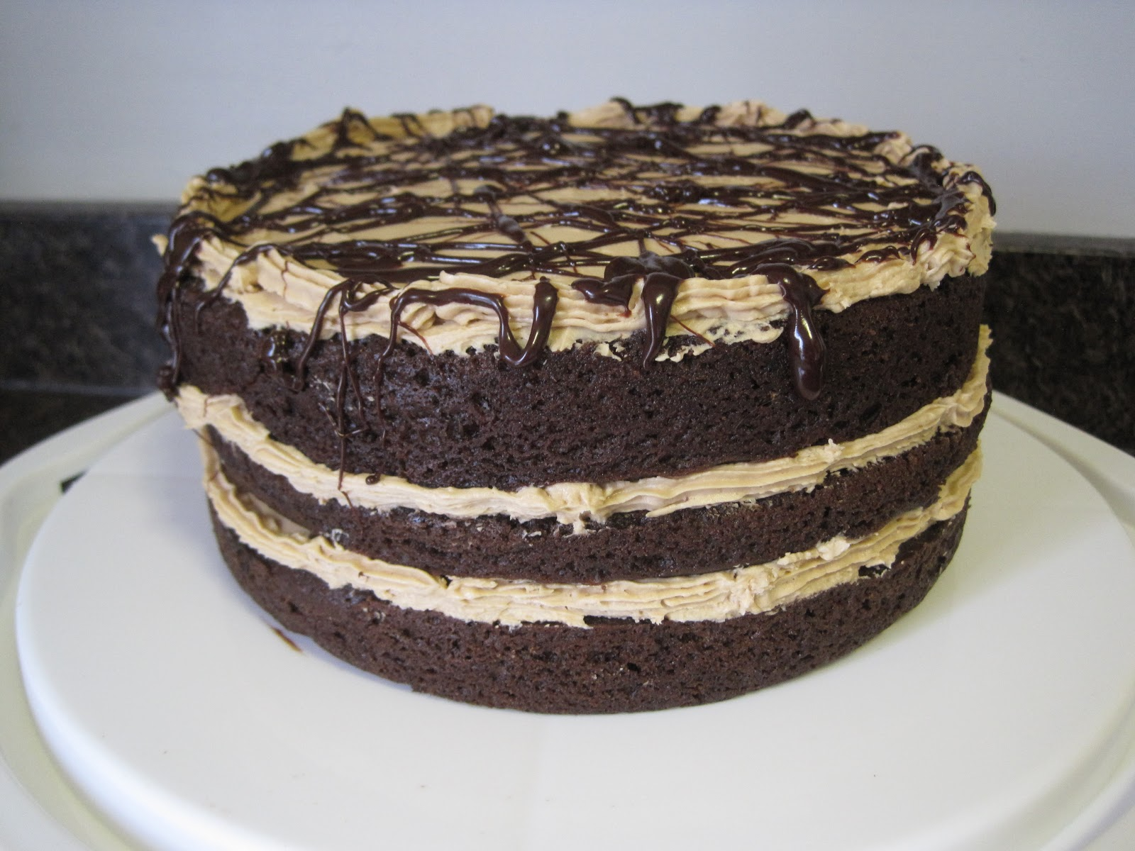 Chocolate Layer Cake With Mocha Frosting And Almonds Recipes ...