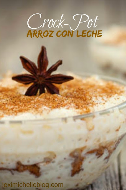 crockpot arroz con leche - rice pudding