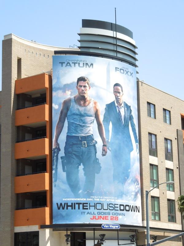 White House Down movie billboard