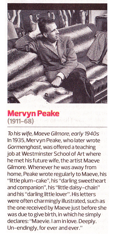 Mervyn Peake Andrea Clarkes Choice In Todays Observer