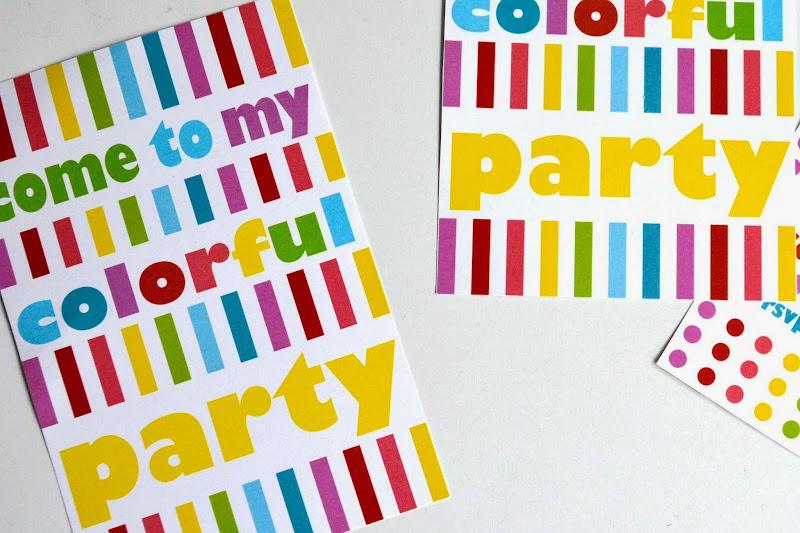 Invitations Rainbow Birthday Party Free Printable