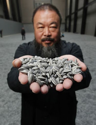 Ai Weiwei and sunflower seeds