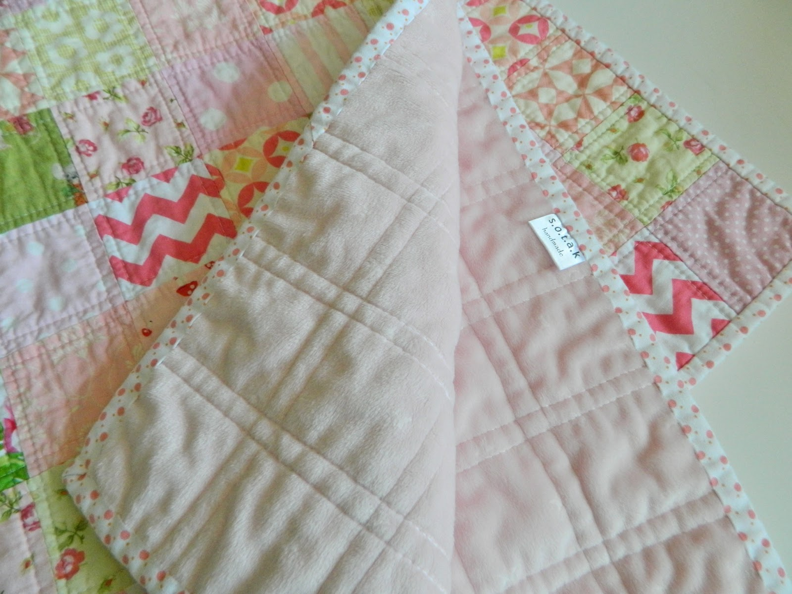 Simple quilt backed with minky fabric. Baby Blankets Pinterest Quilts, Fabrics and Simple