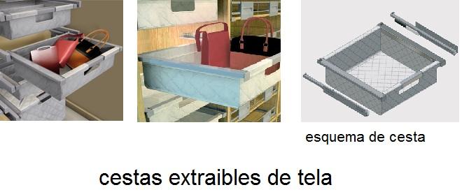 Made of wood accesorios para armario bandejas extraibles - Cestas extraibles ...