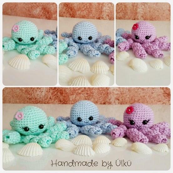 Amigurumi Octopus Anleitung : Handmade by ulku: Amigurumi Tintenfisch / Octopus / Ahtapot