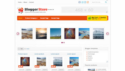 Template(Blogger) para loja Virtual Online [E-commerce/Website]