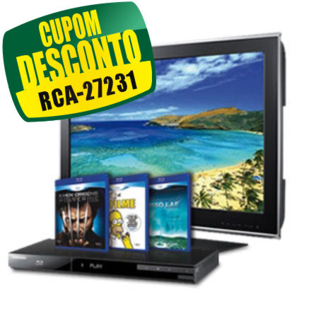 Cupom Efácil - TV 40 LCD Full HD LN40D550 + Blu-ray Full HD Samsung