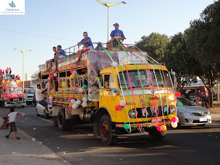 Procissão dos ônibus na romaria de setembro em Juazeiro do Norte.