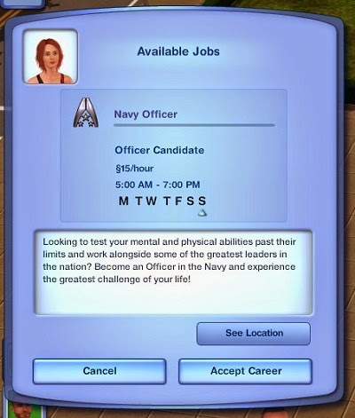 My Sims 3 Blog: The Navy Officer Career! (With Mass Effect References ...