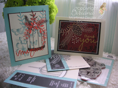 two fall cardsusing memory box dies