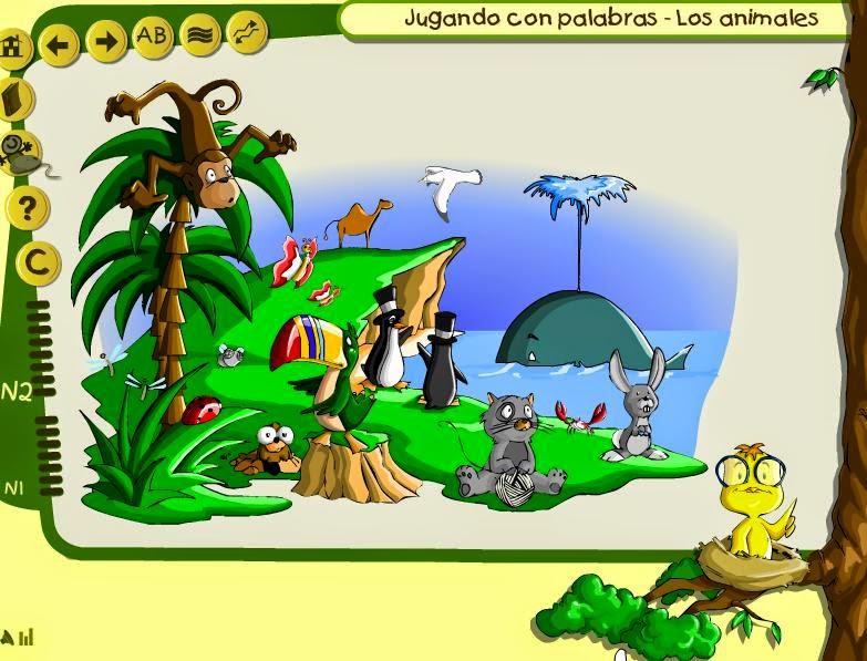 JUEGA CON LOS NOMBRES DE LOS ANIMALES