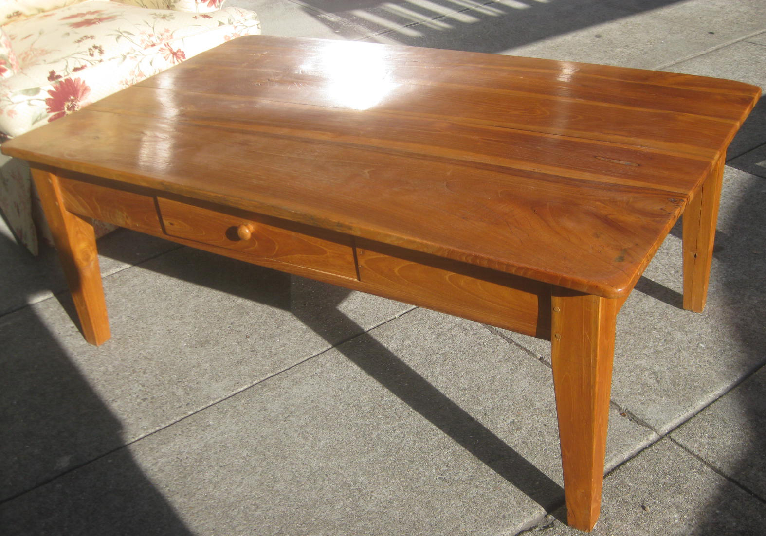 Uhuru Furniture Collectibles Sold Solid Teak Coffee Table 120