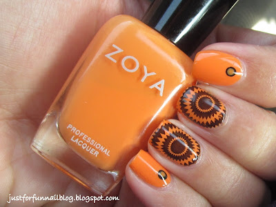 31 Days Challenge Day 2 - Orange Nails with Zoya Arizona