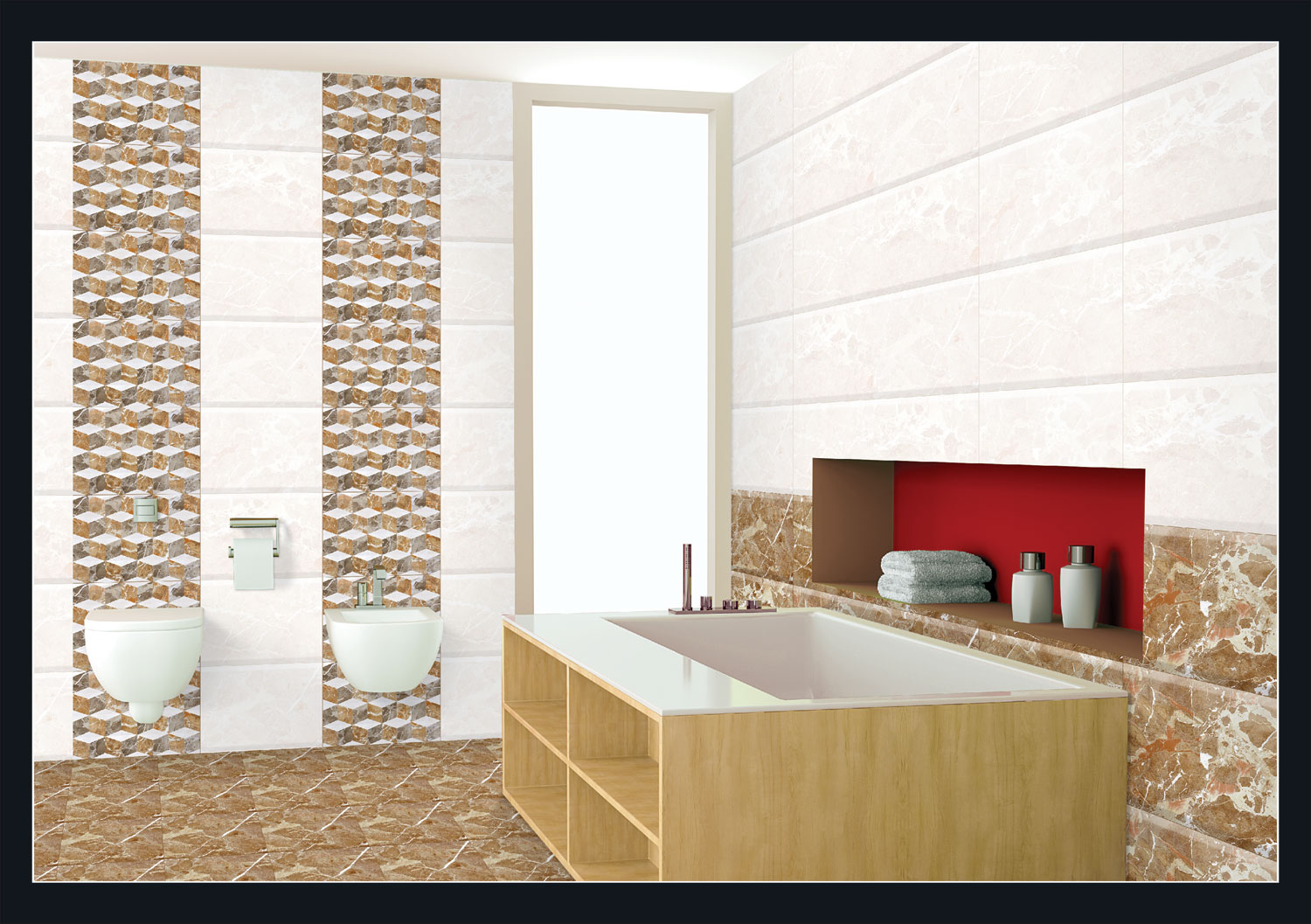 Digital Wall Tiles 12x18 300x450mm Sasta Tiles
