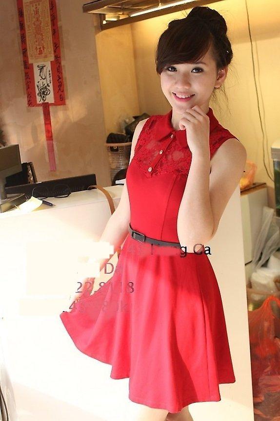 Mẫu đầm màu đỏ gam màu đỏ