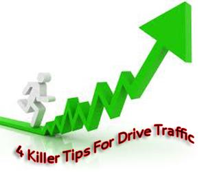 4 Killer Tips,Increasing, Visits,Traffic,Website, Blog,way