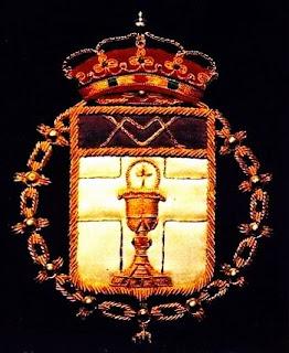 Emblema del abad de la Real cofradía de Minerva y Vera Cruz. León.