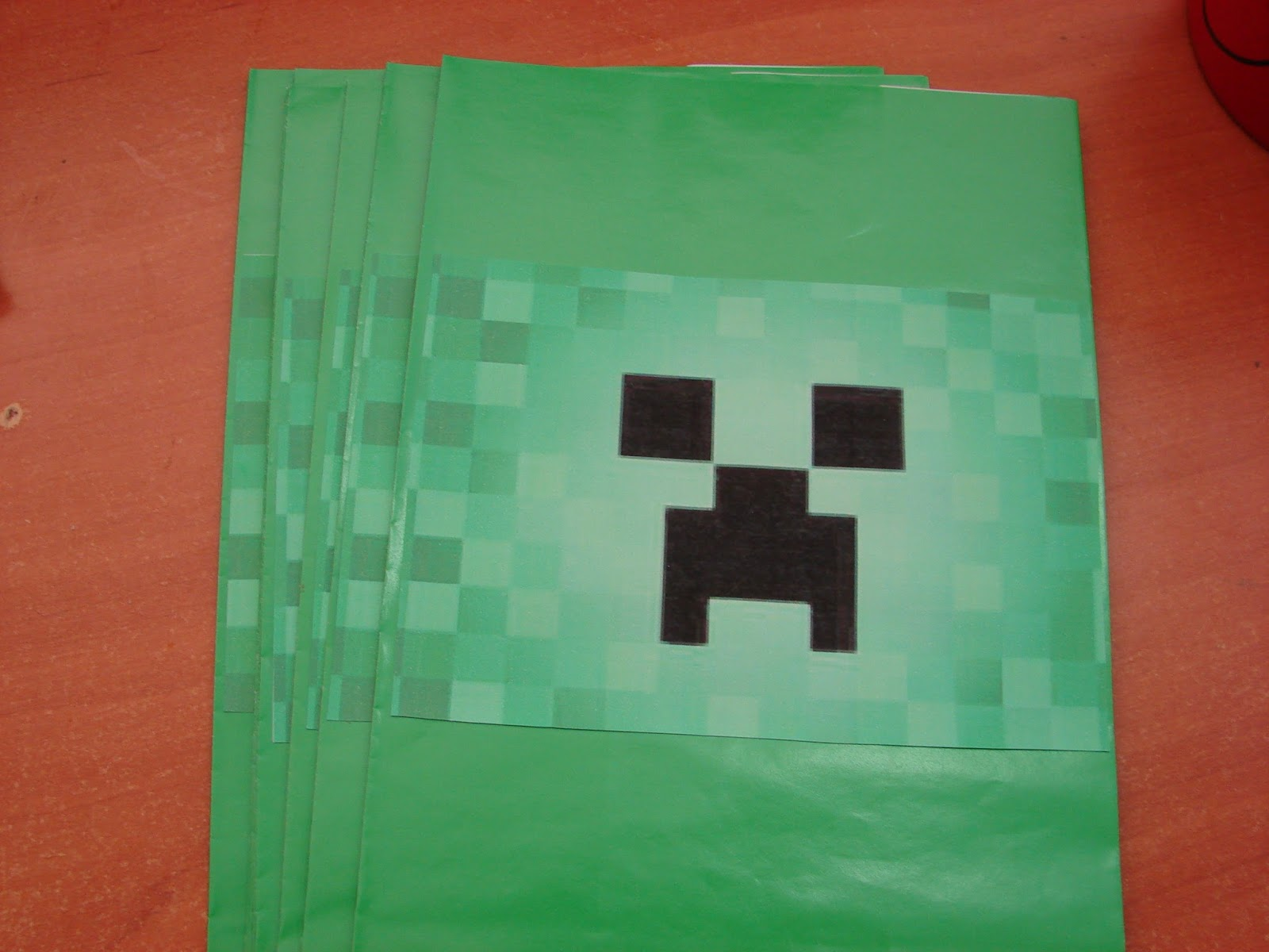 I Found Some Green Paper Treat Bags At A Discount Shop And Printed Out Creeper Faces To Glue On The Front Filled With Various Treats