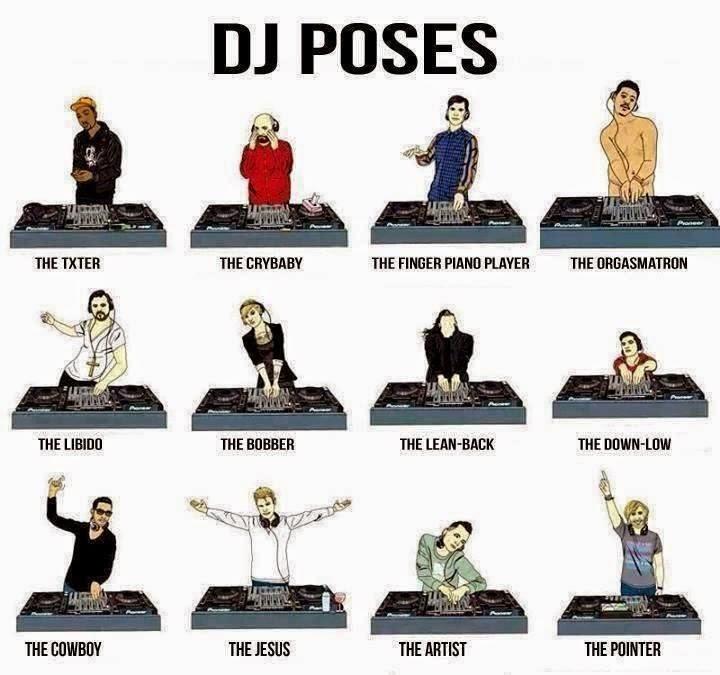 Humor : Las poses del Dj