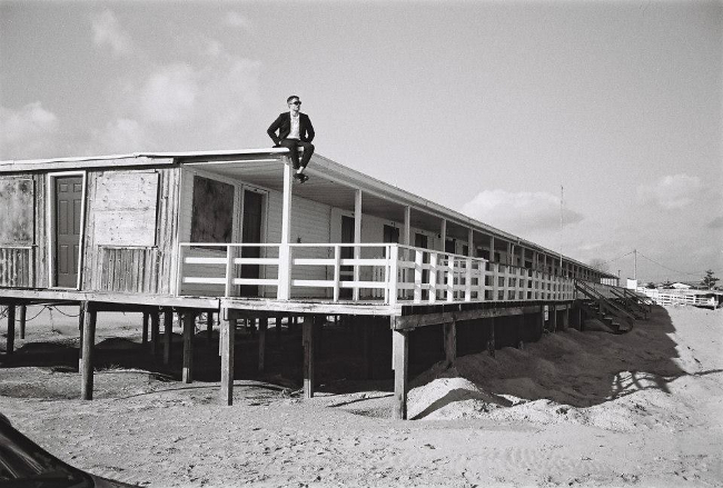 Robert Pattinson on beach for dior