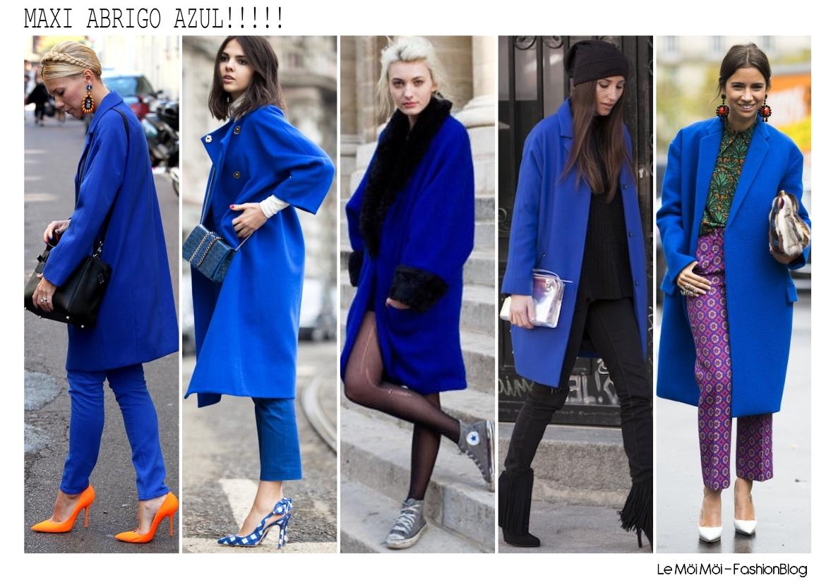 Le m i m i maxi abrigo azul must have it for Combinaciones con azul