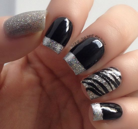 8 fantastic silver nail designs nail art design besides these sparkle nails can also flatter your gorgeous evening dress for a greater look today weve gathered up 18 fantastic silver nail designs for prinsesfo Choice Image