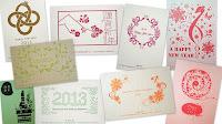 活版印刷の年賀状デザイン・テンプレート