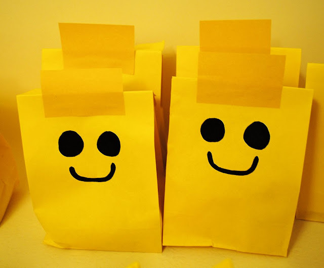 Lego party favor bags