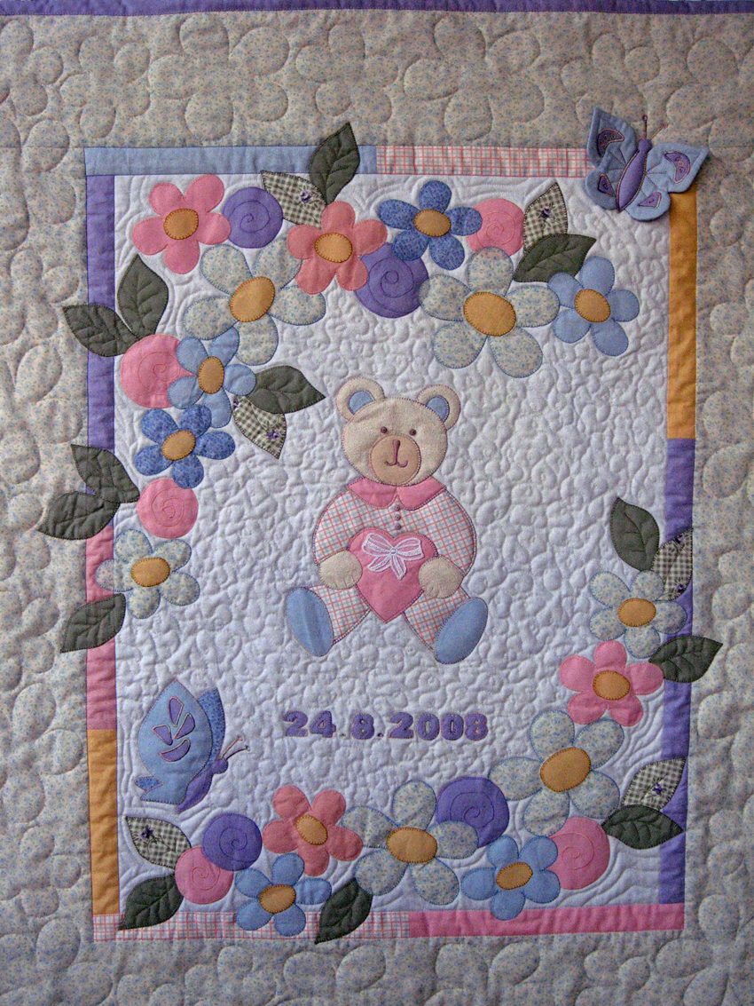 Ulla s Quilt World: Quilted baby blanket