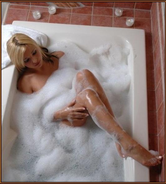 Bubble bath femdom