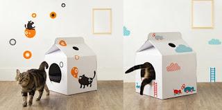 Casas para gatos recicladas