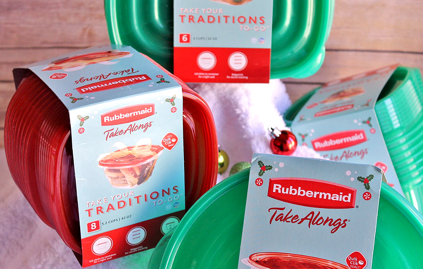 #ShareTheHoliday with Rubbermaid TakeAlongs from Walmart. Package and share homemade treats and gifts. AD