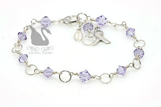 Most Pinned! Hodgkin's Lymphoma Crystal Circle Awareness Bracelet (B069-HL)