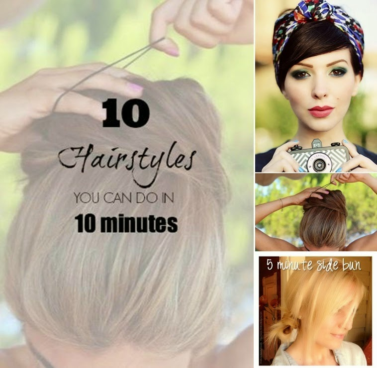 Hairstyles You Can Do : 10 Cute Hairstyles You Can Do in Under 10 Minutes ? DIY Girls ...