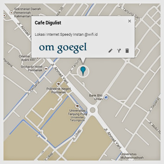 Screenshot: Cafe Digulist on Google Maps