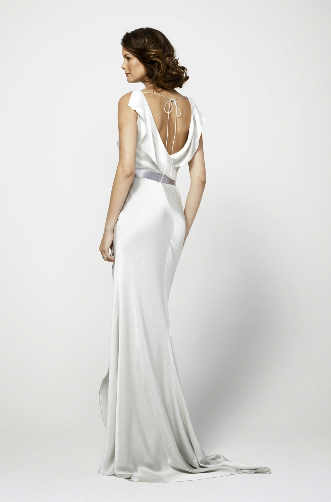 Backless White Wedding Dresses UK with Short Sleeves Photos HD Ideas