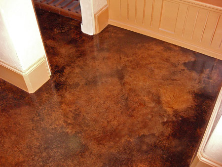 Off grid home sweet home we are stalling for How to clean acid stain floors