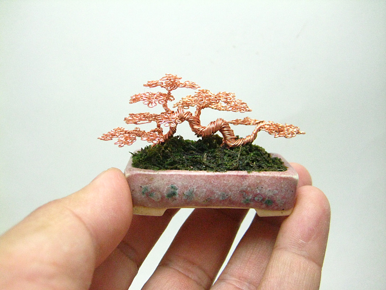 miniature wire bonsai trees by ken to the beading gem 39 s. Black Bedroom Furniture Sets. Home Design Ideas