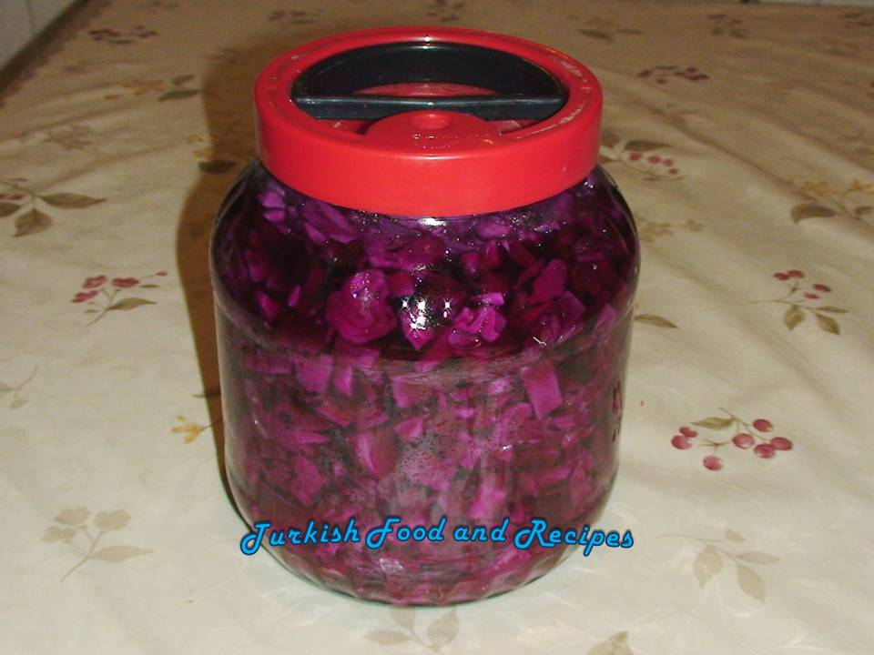 Pickled Red Cabbage (Mor Lahana Tursusu)