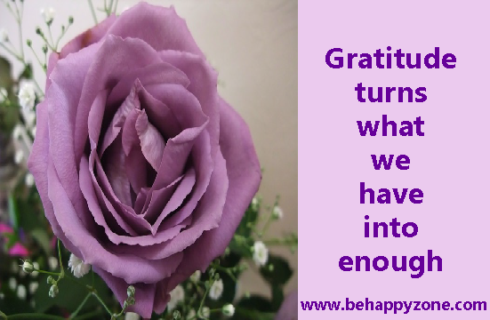 gratitude quote be thankful