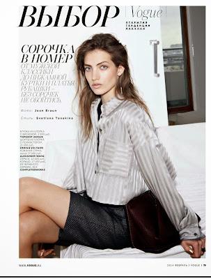 Anzhelika Rzhevskaya Vogue Russia Magazine Photoshoot February 2014