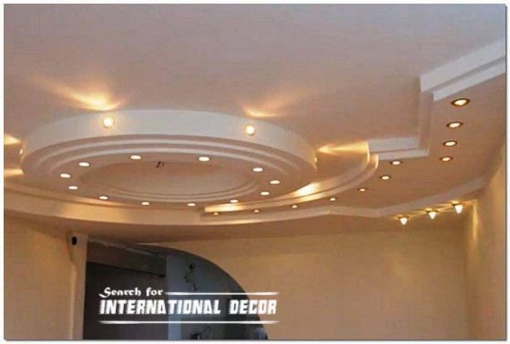 Installation drywall and plasterboard ceiling